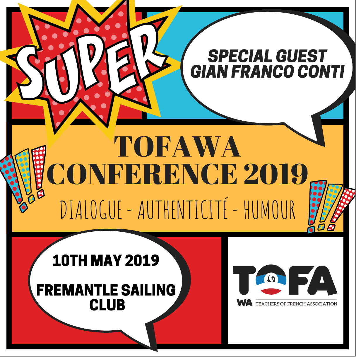 Flyer TOFA conference 2019